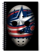 Blue Jackets Goalie Mask Spiral Notebook