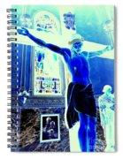 Blue Jesus Spiral Notebook