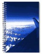 Blue Jet Pop Art Plane Spiral Notebook