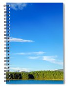 Blue Lake And Green Hills Spiral Notebook