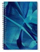 Blue Linear Mesh No 1 Spiral Notebook