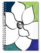 Blue Magnolia 2- Floral Art Spiral Notebook