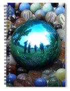 Magic Blue Marble Spiral Notebook