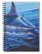 Blue Marlin Strike Off0053 Spiral Notebook