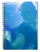 Blue Melody Begonia Floral Spiral Notebook