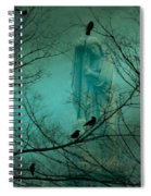 Angel And Crows In A Blue Mist Spiral Notebook