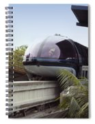 Blue Monorail In The Station Disneyland 01 Spiral Notebook
