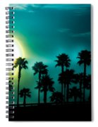 Blue Moon Rising Spiral Notebook