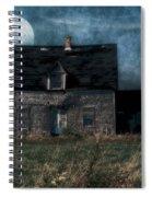 Blue Moon Rising Spiral Notebook