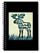 Blue Moose Spiral Notebook