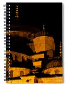 Blue Mosque At Night 02 Spiral Notebook