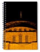 Blue Mosque At Night 03 Spiral Notebook