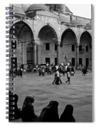 Blue Mosque Courtyard Spiral Notebook