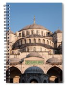 Blue Mosque Domes 01 Spiral Notebook