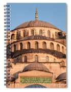 Blue Mosque Domes 02 Spiral Notebook