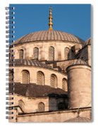 Blue Mosque Domes 05 Spiral Notebook