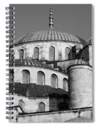 Blue Mosque Domes 06 Spiral Notebook