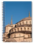 Blue Mosque Domes 07 Spiral Notebook
