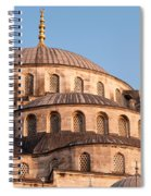 Blue Mosque Domes 09 Spiral Notebook