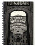 Blue Mosque Entrance Spiral Notebook