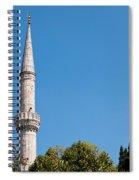 Blue Mosque Minaret 01 Spiral Notebook