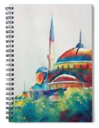 Blue Mosque Sun Kissed Domes Spiral Notebook