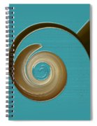 Blue Motion Spiral Notebook