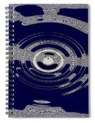 Blue Motion Spiral Notebook