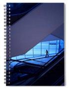 Mysterious Blue Spiral Notebook