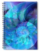 Blue Nautilus Shell By Sharon Cummings Spiral Notebook