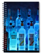 Blue Night Shadows Spiral Notebook