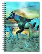 Blue Ocean Horses Spiral Notebook