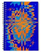 Blue Orange Abstract Spiral Notebook