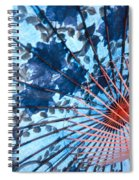 Blue Ornamental Thai Umbrella Spiral Notebook
