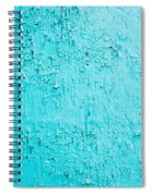 Blue Paint Background Grungy Cracked And Chipping Spiral Notebook