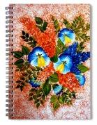 Blue Pansies Bouquet Spiral Notebook