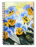 Blue Pansy Spiral Notebook