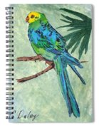Blue Parakeet Spiral Notebook