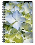 Blue Pastel Floral Art Prints Hydrangea Flowers Spiral Notebook
