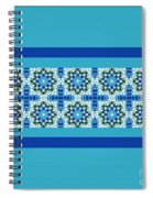Blue Patchwork 2 Spiral Notebook