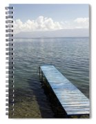 Blue Pier At Lake Ohrid Spiral Notebook