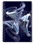 Blue Pipes Spiral Notebook
