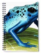 Blue Poison Dart Frog Spiral Notebook