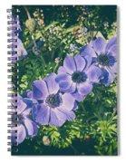 Blue Poppies Blooms Spiral Notebook