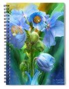 Blue Poppy Bouquet - Square Spiral Notebook