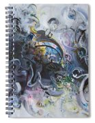 Blue Purple Abstract Movement Art Spiral Notebook
