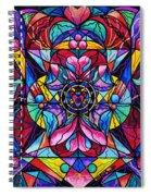Blue Ray Healing Spiral Notebook