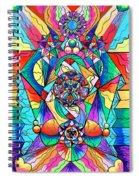 Blue Ray Transcendence Grid Spiral Notebook