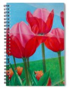 Blue Ray Tulips Spiral Notebook