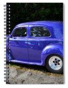 Blue Restored Willy Car Spiral Notebook